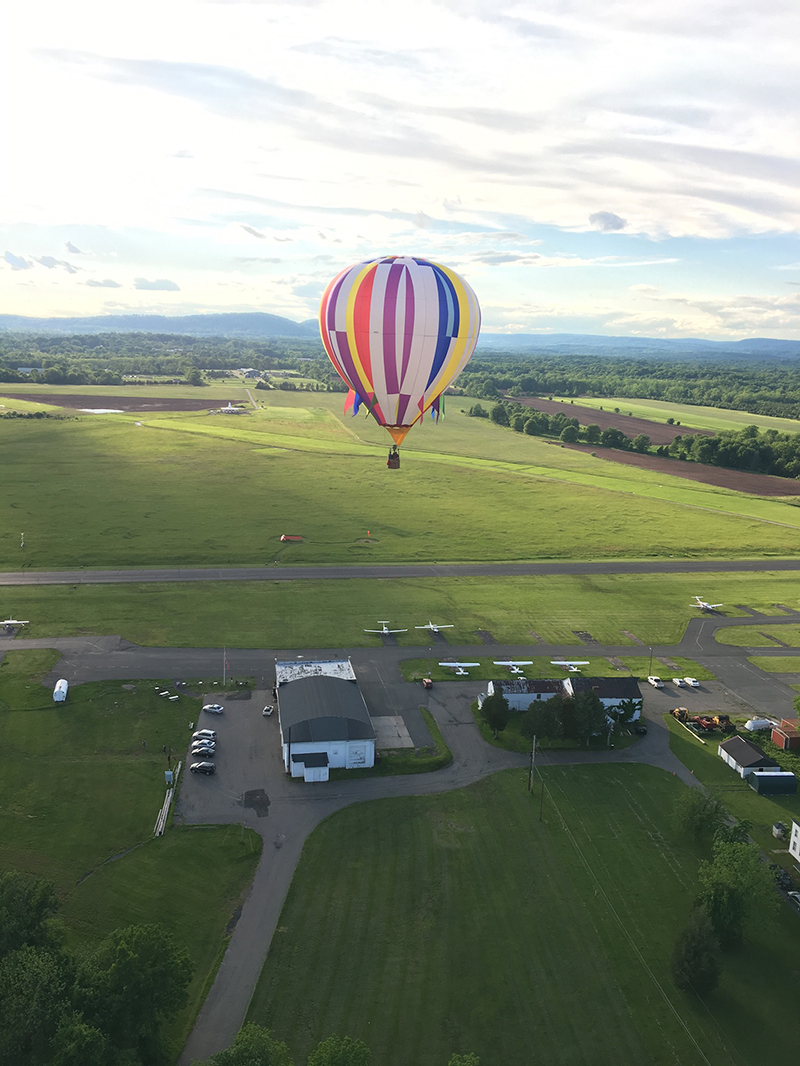 balloon over airport